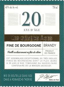 20 Year Fine Brandy Label
