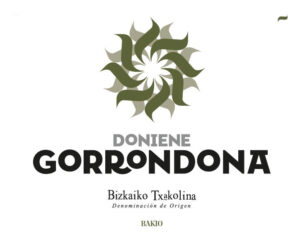 Gorrondona Txakoli label