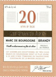 20 Year Marc Brandy Label