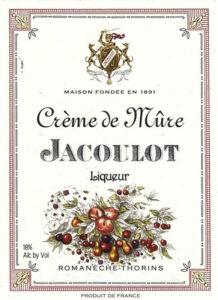 Jacoulot Creme de Mure label