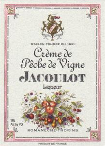 Jacoulot Creme de Peche de Vigne label