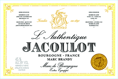 L'Authentique Marc Brandy Label