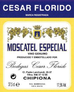 Moscatel Especial label