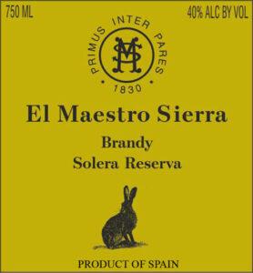 El Maestro Sierra Brandy de Jerez Solera Reserva