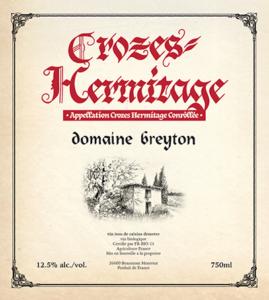 Domaine Breyton Crozes-Hermitage label